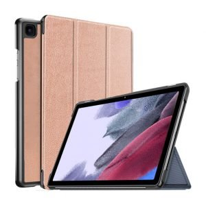 Samsung Galaxy Tab A7 8.7 inch 2021 Lite SM-T220 T225 Leather Case 360 Degree Rotating Smart Stand Cover (Rose Gold)
