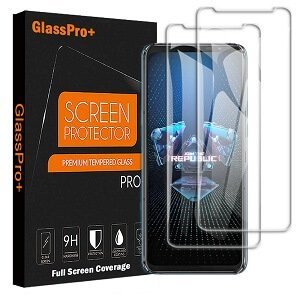 Asus ROG Phone 5 Screen Protector Full Coverage Tempered Glass Film Guard (Clear)