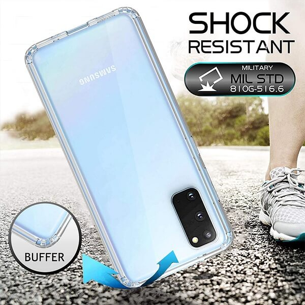 Samsung Galaxy S20 Clear Case Slim With 4 Corners [Shock Absorption] Hard Back Soft Bumper Cover