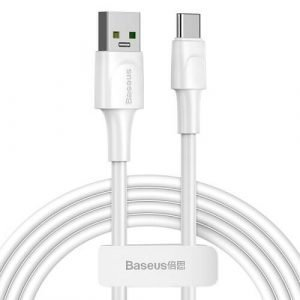 1M Original Baseus VOOC USB Type-C Adapter Cable Fast Charging Cord (White)