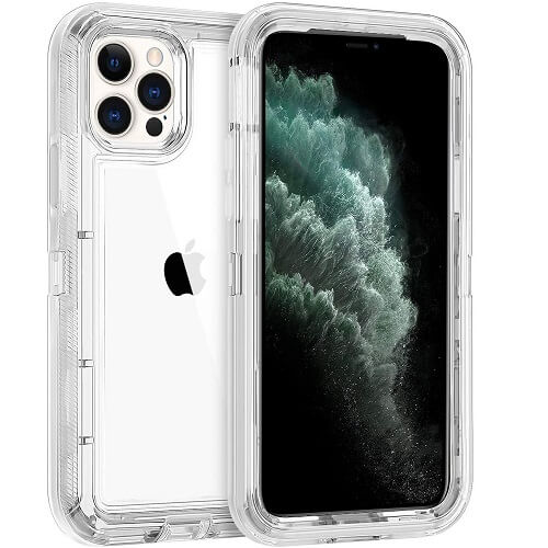 Apple iPhone 11 Pro Max Transparent Full Body Protection Case Cover