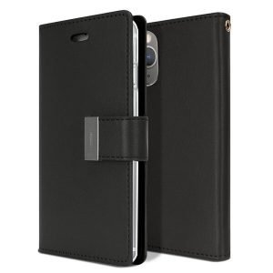 Goospery iPhone 11 Pro Max Rich Diary Black Wallet Case