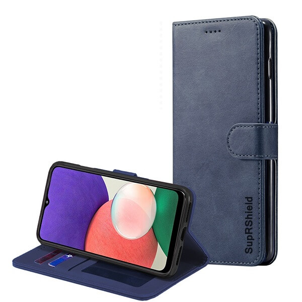 Samsung Galaxy A22 5G Wallet Leather Flip Protective Case for Sale