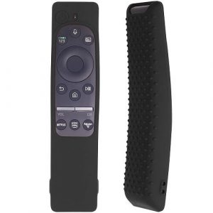 Kids Friendly Protective Silicone Gel Case for Samsung Smart TV Remote Control BN59 Series Lightweight Anti Slip Shockproof Protective Cover (Black)