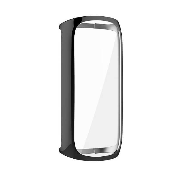 Fitbit Luxe Gel Case Premium Soft Protective Silicone Cover (Black)