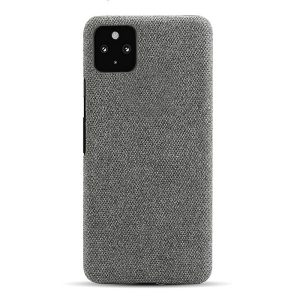 Google Pixel 4a 5G Fabric Case Hard Protective Phone Back Cover with Material Texture (Dark Grey)