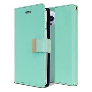 Goospery iPhone 13 Pro Rich Diary Aqua Wallet Case for Sale