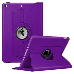 iPad 9th Gen Leather Case 360 Degree Rotating Smart Stand Cover