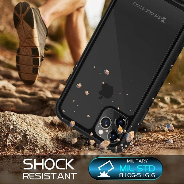Apple iPhone 11 Pro Military Grade Full Body Shockproof Clear Heavy Duty Case Bumper Drop Protection Tough Cover (Black)