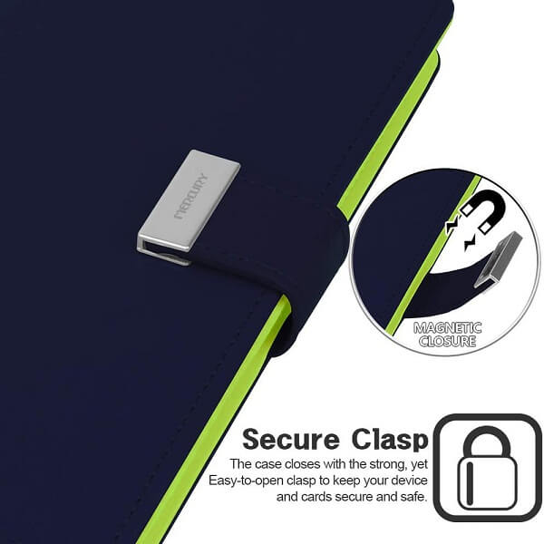 Goospery Apple iPhone 13 Pro Max Rich Diary Wallet Flip Case Leather Card Slots Magnetic Cover(Navy Blue) IP13PM-RIC-NVY