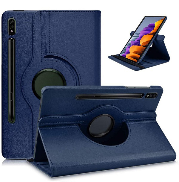 Samsung Galaxy Tab S7 S7 Plus Rotate Leather Case