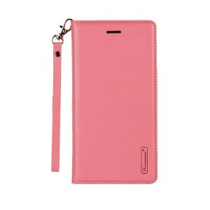 Apple iPhone 12 Pro Max Light Pink Leather Wallet Cover Case