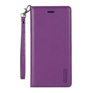 Apple iPhone 7 / 8 Purple Leather Wallet Cover Case
