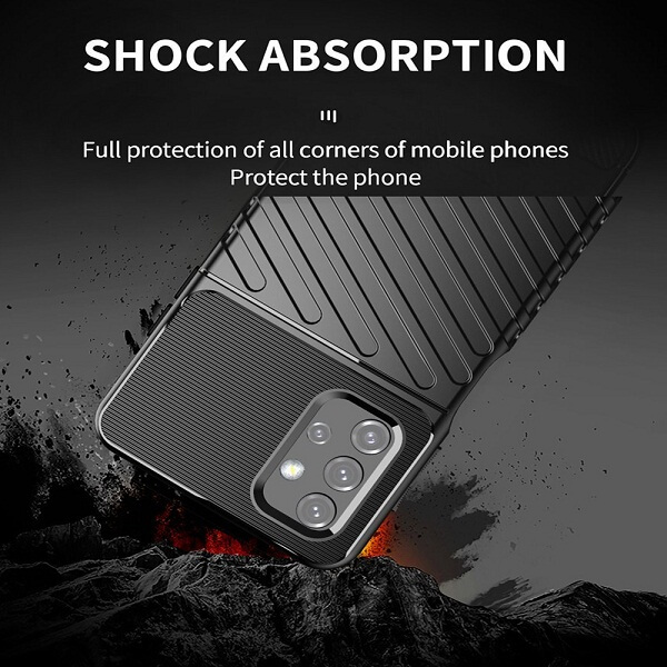 Samsung Galaxy A52s 5G Case Shockproof Absorption Anti Scratch Heavy Duty Durable Drop Protection Phone Armor Back Cover (Black)