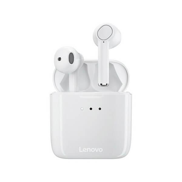 White Lenovo QT83 Earbuds